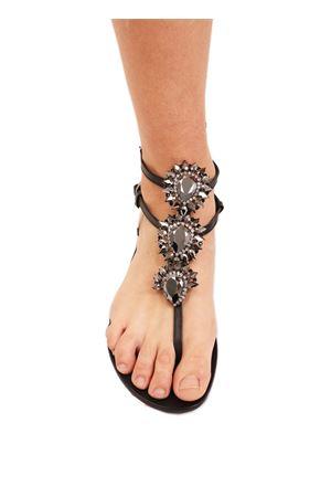 sandali con gioiello nero Da Costanzo | 5032256 | GIOIELLOALTONERO