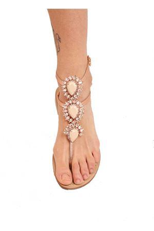 sandali gioiello alti alla caviglia Da Costanzo | 5032256 | GIOIELLOALTOROSATOROSE