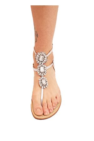 sandali donna alti alla caviglia argentati Da Costanzo | 5032256 | GIOIELLOFIOREBIANCOARG