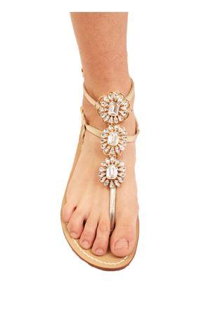 Sandali gioiello alti alla caviglia Da Costanzo | 5032256 | GIOIELLOFIOREGOLDPLATINUM