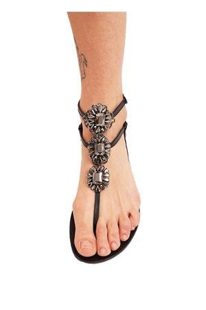 sandali gioiello alti alla caviglia neri Da Costanzo | 5032256 | GIOIELLOFIORINERO