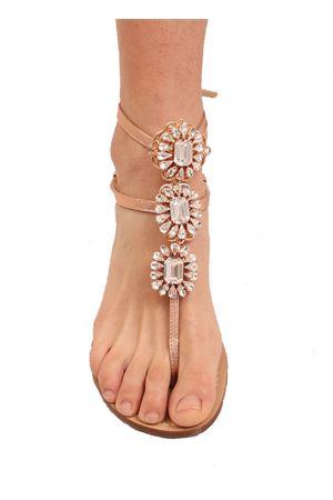 Laminated pink high ankle jewel sandals Da Costanzo | 5032256 | GIOIELLOFIORIORO