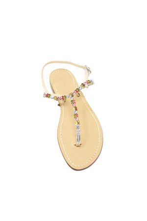 Da Costanzo Capri jewel thong sandals Da Costanzo | 5032256 | GIOIELLOMULTICOLORMULTICOLOR