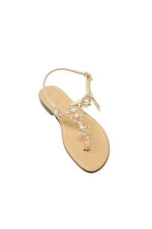 Platinum flat sandals with pearls  Da Costanzo | 5032256 | GIOIELLOPERLEORO