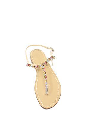 flat colored jewel sandals Da Costanzo | 5032256 | MULTICOLOREJEWELPLATINO