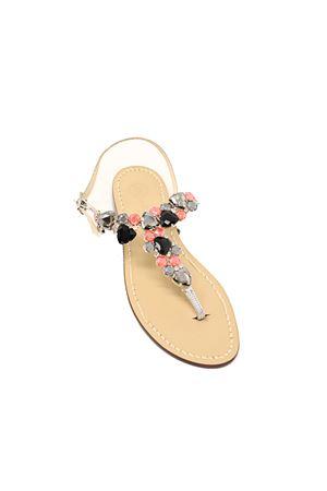 Jewel Capri sandals  Da Costanzo | 5032256 | MULTISTONESNEROPINK