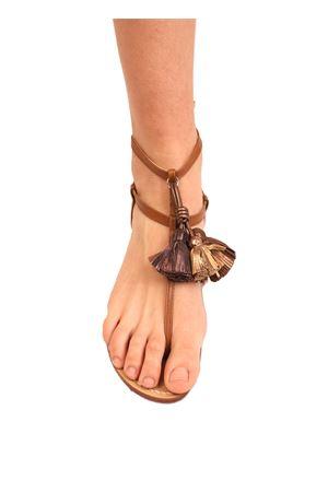 sandali capri nappine bronzo Da Costanzo | 5032256 | NAPPINEALTOCUOIOBRONZO