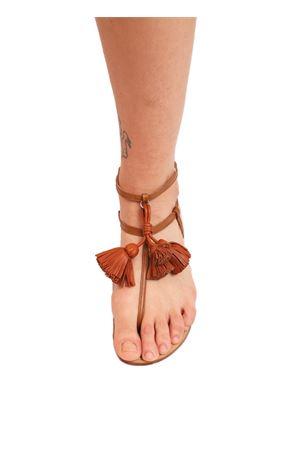 capri sandals with leather tassels Da Costanzo | 5032256 | NAPPINEALTOCUOIOCUOIO