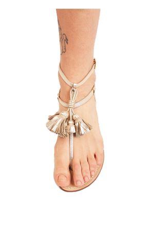 Platinum sandals with tassels  Da Costanzo | 5032256 | NAPPINEALTOPLATINOPLATINO