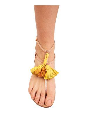 Yellow tassels rosy silver sandals  Da Costanzo | 5032256 | NAPPINEALTOROSAGIALLO