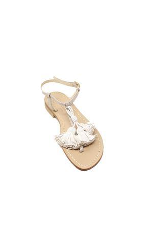 Sandali beige con nappine Da Costanzo | 5032256 | NAPPINENEWNRAZZABEIGEBIANCO