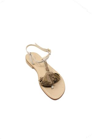 beige capri sandals with tassels  Da Costanzo | 5032256 | NAPPINENEWNRAZZABEIGETAUPE