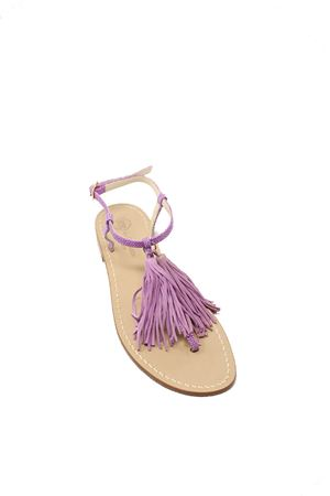 Liliac flat sandals with tassels  Da Costanzo | 5032256 | NAPPINENEWRAZZAVIOLA