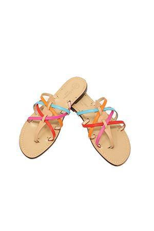 Colored flat sandals for women Da Costanzo | 5032256 | RAGNOMULTICOLOREMULTICOLOR