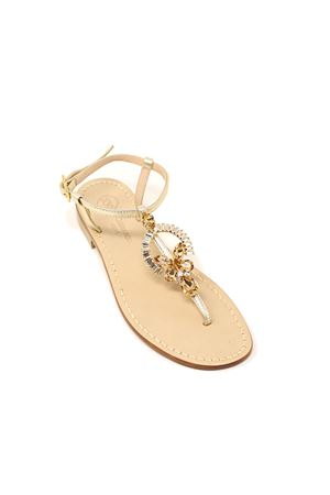 •Capri sandals with golden jewel  Da Costanzo | 5032256 | RINGEJEWELORO