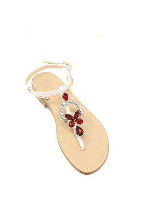 sandali gioiello capresi rossi infradito Da Costanzo | 5032256 | RINGEJEWELROSSOBIANCO