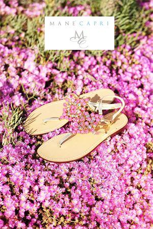 capri sandals with Swarovski Da Costanzo | 5032256 | ROMBOGIOIELLOBIGFUCSIA