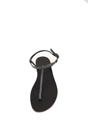 Black basic Capri sandals Da Costanzo | 5032256 | S1918RAZZACCIAIO