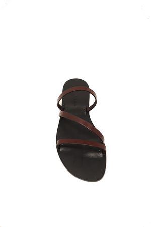 Capri sandals in leather with black sole Da Costanzo | 5032256 | SANDALOZBORDEAUX