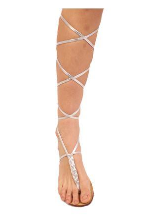 Handmade silver Capri sandals Da Costanzo | 5032256 | SCHIAVACAPRESEATRECCIAARGENTO