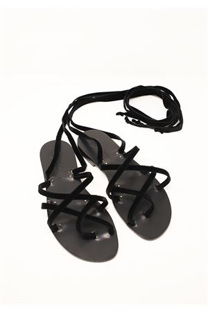 Black velvet slave sandals  Da Costanzo | 5032256 | SCHIAVAVELLUTONERO