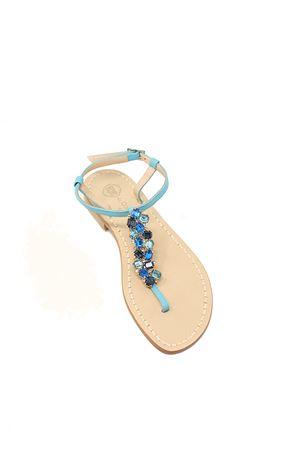 Sandali gioiello azzurri Da Costanzo | 5032256 | STRISCIAGIOIELLOAZZURRO