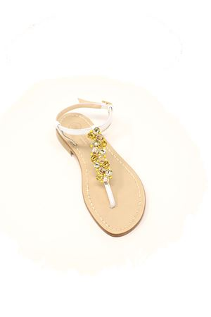 sandali gioiello bassi gialli Da Costanzo | 5032256 | STRISCIAGIOIELLOGIALLO