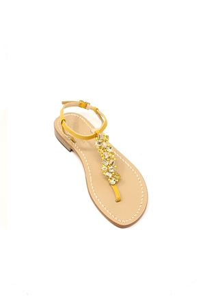 Sandali capresi gialli gioiello Da Costanzo | 5032256 | STRISCIAGIOIELLOGIALLOGIALLO