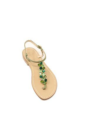 Sandali capresi gioiello verdi Da Costanzo | 5032256 | STRISCIAGIOIELLOVERDE