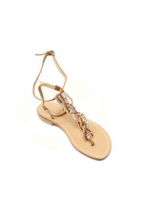 Ankle-high bronze jewel Capri sandals Da Costanzo | 5032256 | TRECCIAGIOIELLOBRONZO