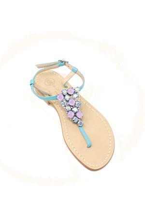 sandali capresi gioiello turchesi e lilla Da Costanzo | 5032256 | TRIANGOLOJEWELTURCHESE