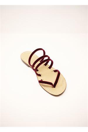 Sandali infradito in velluto Da Costanzo | 5032256 | VELLUTOINFRABORDEAUX