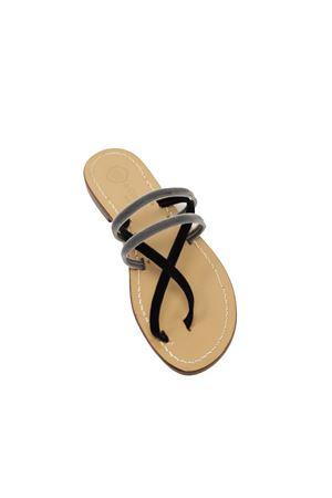 Capri sandals in velvet with banded Da Costanzo | 5032256 | X2FNEROAZZ