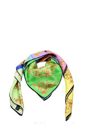 Silk foulard with majolica print La Dolce vista | -709280361 | MULTIMAIOLICHEBIANCO