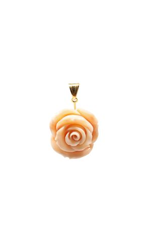 Rose-shaped pendant in gold and coral  Don Alfonso Gioielli | 5032249 | AJ979ROSA