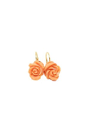 Pink coral earrings with rose shape Don Alfonso Gioielli | 48 | AL043ROSA