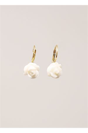 White coral earrings rose-shaped Don Alfonso Gioielli | 48 | AL189BIANCO