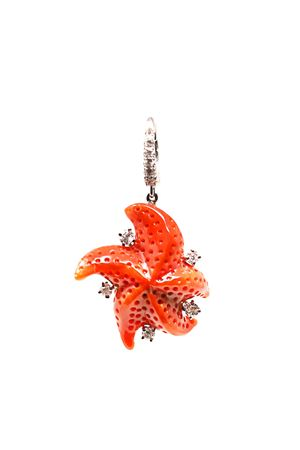 Coral and diamonds starfish pendant  Don Alfonso Gioielli | 5032249 | AL746ROSSO
