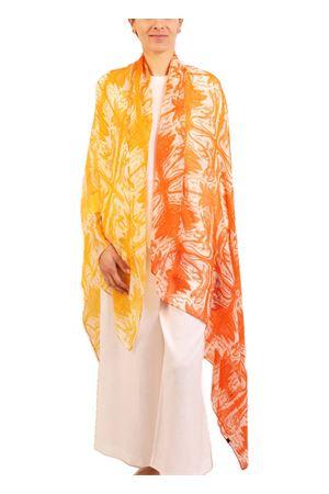 Multi orange cashmere shawl Eco Capri | 77 | CSHLCRBLUSHORANGE