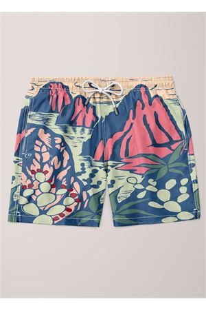 Faraglioni swim trunk for men  Eco Capri | 85 | MSWFRGLNMULTICOLOR