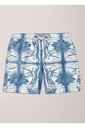 Costume da uomo con Lucertole azzurre Eco Capri | 85 | MSWLCRBLUBLUE