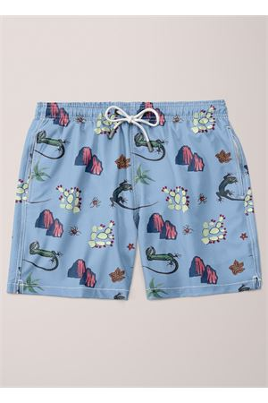 Capri pattern swim trunk for men  Eco Capri | 85 | MSWLZRLBLIGHTBLU