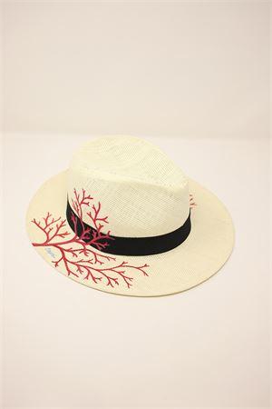 cappello panama corallo Grakko Fashion | 26 | PANAMACORALLOBEIGE