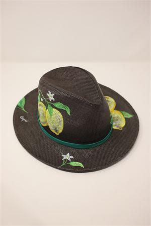 cappello panama limoni Capri Grakko Fashion | 26 | PANAMALIMONIMARRONE