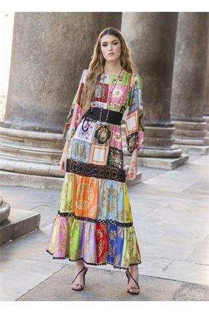 gypsy-style dress in silk and macramé lace La Dolce vista | 5032262 | ABITOGIPSYMULTICOLORMULTICOLOR