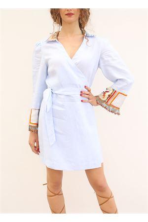 Light blue linen dress  La Dolce vista | 5032262 | ABITOLINOPORTAFOGLIOCELESTE