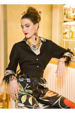 Black linen shirt with marabou La Dolce vista | 6 | CAMICIASETALINONERO