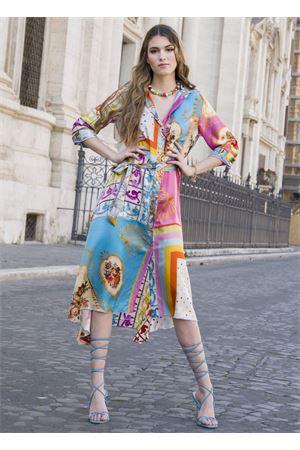 Chemisier in pure silk with multicolored pattern  La Dolce vista | 5032262 | CHEMISIERCORTOMULTI