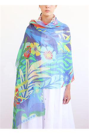 linen and cotton multicolor stole La Favola Continua | 61 | ASTRATTOVERDE