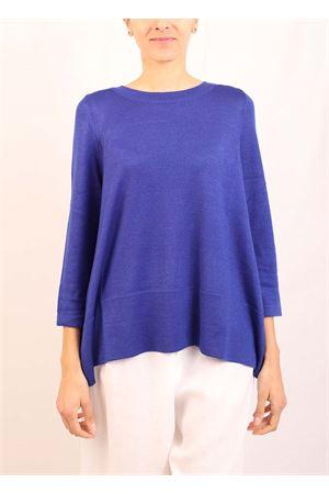 maglia in cachemire blu elettrico Laboratorio Capri | 7 | 01SVABLUWOW